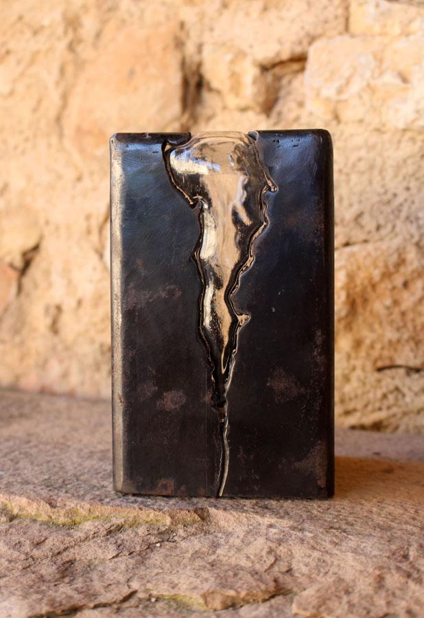 prouchet dalla costa sculpture acier corten verre soufflé