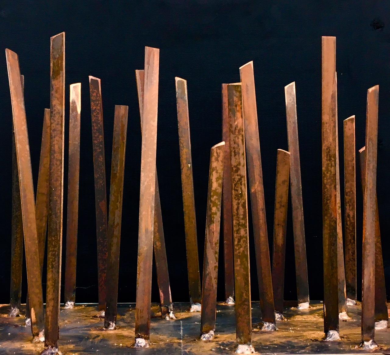 prouchet dalla costa sculpture acier corten